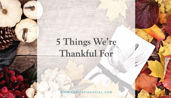 5 Things We're Thankful For