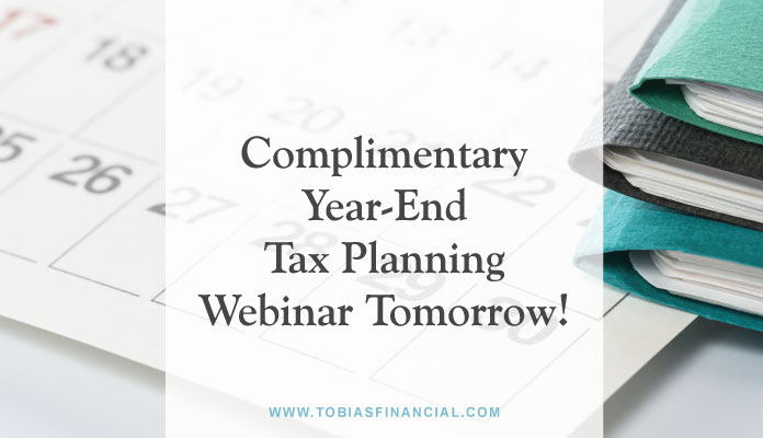 Complimentary Year-End Tax Planning Webinar Tomorrow!