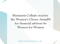Marianela Collado receives the Women's Choice Award® for financial advisors by Women for Women