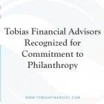 Tobias Financial Advisors Recognized for Commitment to Philanthropy