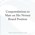 Congratulations to Matt on His Newest Board Position
