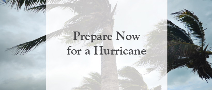 Prepare Now for a Hurricane