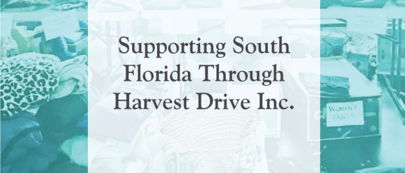Supporting South Florida Through Harvest Drive Inc.
