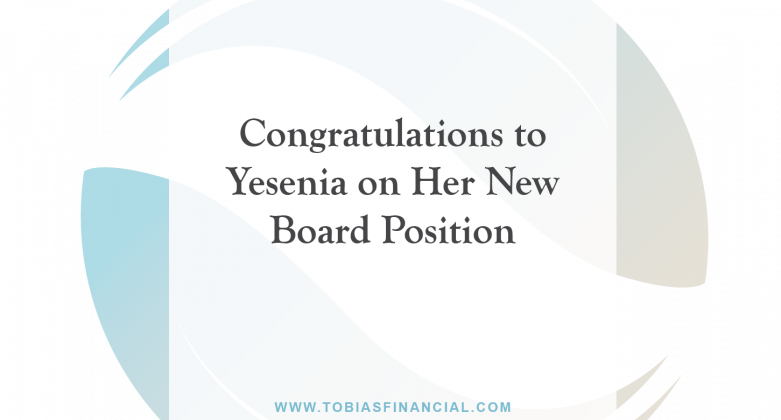 Congratulations to Yesenia on Her New Board Position