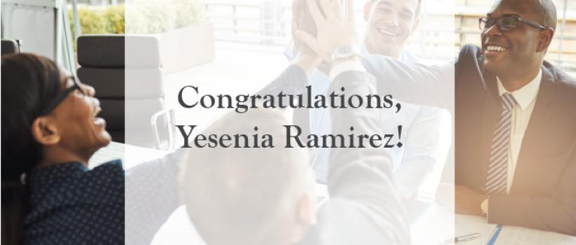 Yesenia Ramirez Passed The CFP® Examination