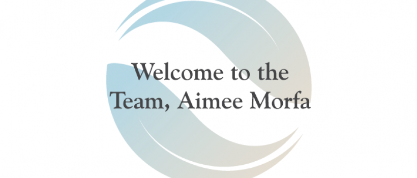 Welcome to the team, Aimee!